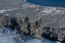 Stunning views over Lake Tahoe from Piste in Heavenly