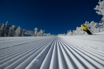 Freshly groomed piste in Heavenly, USA
