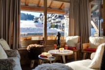 Hotel La Marmotte - Lounge with mountain views