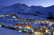 La PLagne, France, night time