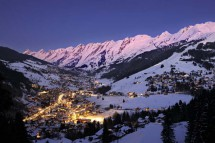 La Clusaz, France, Resort at Twilight