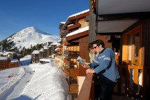 La Licorne self-catering apartments balcony, La Plagne