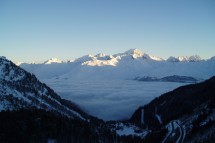 les Arcs, France, early morning sun