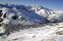 Les Duex Alpes, France, view from the mountain