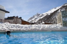 Residence Les Chalets du Solaise pool close up, Val D'Isere
