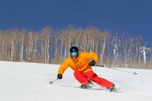 Skiing on Groomers, Park City, USA