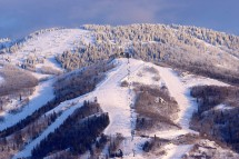 Stunning aerial view of Steamboat's extensive pistes