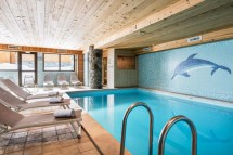Swimming pool in the Ski Lodge Aigle - ski chalet in Tignes, France